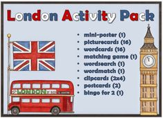 """London Activity Pack von JacMo    JacMo hat dieses wunderschöne Materialpaket  rund ums Thema """"London"""" erstellt. Ich freue mich sehr, dass ..."""