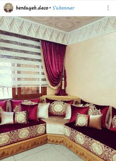 Moroccan Decor Living Room, Living Room Interior, Living Room Decor, Diy Interior, Interior Architecture, Rideaux Design, Arabic Decor, Plafond Design, Bedroom Decor For Teen Girls