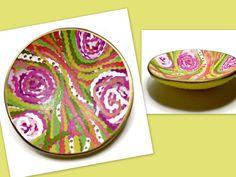 Lilly Pulitzer Inspired Wedding Ring Holder Garden Wedding Polymer Clay by BeadazzleMe