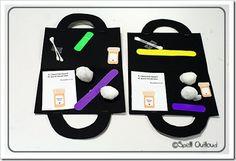 Doctor/Nurse theme for preschool! Cute doctor's kit gluing craft =)
