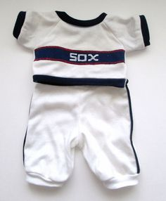 Vintage Handmade Cabbage Patch Doll Clothes Chicago White Sox Baseball Outfit #ClothingAccessories