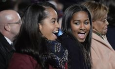 Malia and Sasha Obama are blossoming into two beautiful young women! The daughters of Barack and Michelle Obama looked gorgeous on Thursday night when they Malia Obama, Barack Obama Family, Obamas Family, Obama Daughter, First Daughter, Michelle Obama, Joe Biden, Durham, Obama Sisters