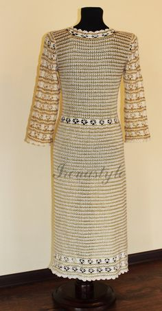 Crochet vestido feito sob encomenda feita à mão crochê. por Irenastyle