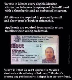 Mexican voting requirements....