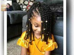 Lil Girl Hairstyles, Black Kids Hairstyles, Natural Hairstyles For Kids, Kids Braided Hairstyles, Hairstyles Videos, Bandana Hairstyles, School Hairstyles, Formal Hairstyles, Ponytail Hairstyles