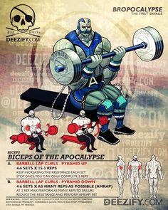 ejercicios de bíceps: regazo rizos apocalipsis