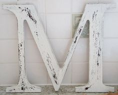 distressed letter tutorial