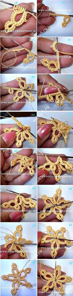#crochet Star Snowflake