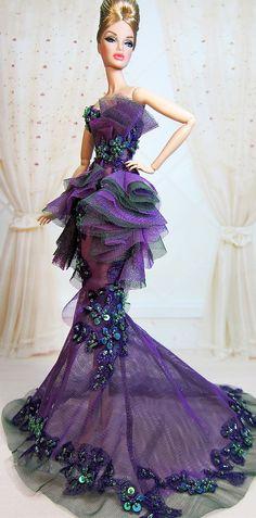 Barbie Gowns, Barbie Dress, Barbie Clothes, Fashion Royalty Dolls, Fashion Dolls, Diva Dolls, Dolls Dolls, Beautiful Dolls, Beautiful Dresses