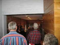 The group makes its way through the museum's 1960's Exhibit.