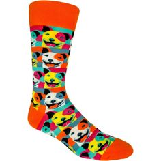 720036f6981 Pop Art Pitbull Men s Crew Socks