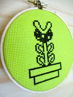 Piranha Plant  Cross Stitch Pattern by togglestitch on Etsy, $4.00. This is a cross stitch pattern I made recently - click thru if you're interested in purchasing. Thanks!