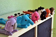 Estuches bestiales de ganchillo para la vuelta al cole - Crochet pencilcases animals by Noagurumis