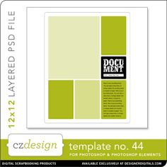 Cathy Zielske's Layered Template No. 044 - Digital Scrapbooking Templates