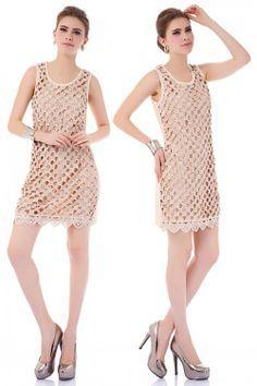 Neu Damen Sommer ärmellos Lochmuster Cocktailkleid mini Sakura Jumper Rock Kleid Abendkleid