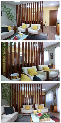 Divisão de ambientes com madeira - Blog da Phabi