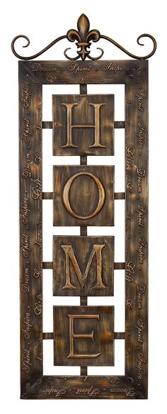 » Home Metal Wall Plaque |