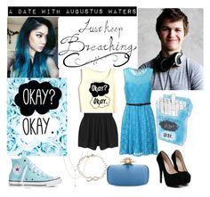 """A date with Augustus Waters"" by plurdoll ❤ liked on Polyvore featuring Jennifer Zeuner, MINKPINK, Converse, Oscar de la Renta, Tiffany & Co. and Alice & You"