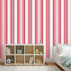 Stripe Curtains, Home Decor, Red Stripes, Red Roses, Wall Papers, Blinds, Decoration Home, Room Decor, Draping