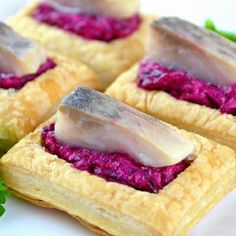 Here's a recipe that will put your love of beets to the test! Puff Pastry Stuffed with Beet and Herring