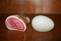 Ham and Egg Go with Salt and Pepper Shakers | eBay