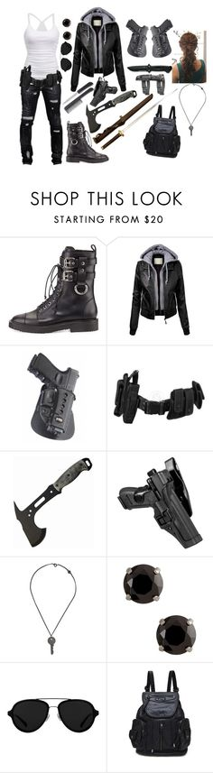 """""""Tough girl"""" by alexandria-nightshade ❤ liked on Polyvore featuring American Eagle Outfitters, Giuseppe Zanotti, POLICE, INC International Concepts, Maison Margiela and 3.1 Phillip Lim"""