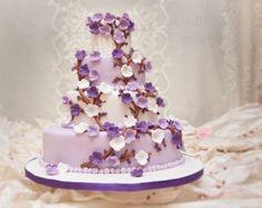 Soft purple and lilac blossom cake. https://www.profiletree.com/nina-rogers.  #cake, #decoratedcake, #wedding, #engagement, #party, yummy, #food, #bake, #creative, #anniversary, #graduation , #flavor, #chocolate, #vanilla, #strawberry,