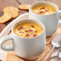 Harvest Beer Cheese Soup Recipe from Land O'Lakes Soup Recipes, Cooking Recipes, Cooking Ideas, Food Ideas, Recipies, Fennel Soup, Beer Cheese Soups, Tailgate Food, Tailgating