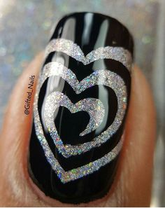 "So thrilled that @gifted_nails is back & creating amazing nail art! Prarthana is using our I ""Heart"" Swirls Nail Vinyls found at: http://snailvinyls.com"
