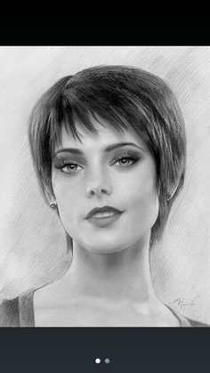 "( CELEBRITY WOMAN 2016 ★ ALICE CULLEN "" Drawing - Twilight saga "" ) ★ Mary Alice Brandon - in 1901 - Biloxi, Mississippi. Is a precognitive vampire and member of the Olympic coven."