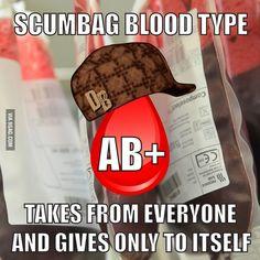 Scumbag blood type
