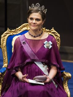 Crown Princess Victoria at the 2015 Nobel Prize Ceremony in Stockholm on December 10, 2015 #bymalina