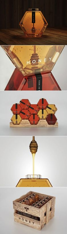 Honey made by bees, branding and packaging design.