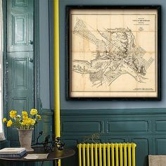 Hey, I found this really awesome Etsy listing at https://www.etsy.com/listing/196972180/map-of-richmond-1864-vintage-richmond