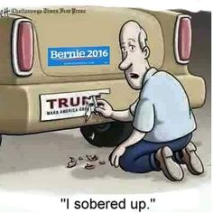 Clay Bennett cartoon on Donald Trump Political Satire, Political Cartoons, Election Cartoons, Trump Cartoons, Political Posters, Bernie Sanders, Caricatures, My Guy, Dumb And Dumber