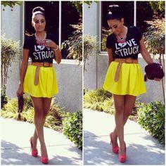 Marina Hidalgo - Forever 21 Love Struck T Shirt, 2020ave Skater Skirt, Gojane…