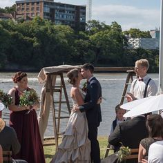 How about our vintage ladder arbor?standing out alongside the Brisbane river. Brisbane River, Vintage Ladder, Bridesmaid Dresses, Wedding Dresses, Backdrops, This Is Us, Empire, Photo And Video, Beautiful