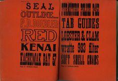 Morgan Press Woodtype Specimens #letterpress