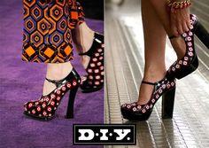 DIY Patterned Prada Pumps #Prada #Fashion #DIY http://www.TrendHunter.com