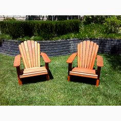My Adirondack chairs I built from plans at woodworkingden.con