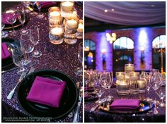 Spectacular #reception decor with matching accent #uplighting! Nice photo via #JeannineMariePhotography