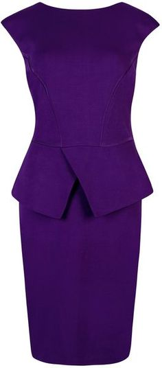ted baker London Evvie Structured Waist Dress - Lyst