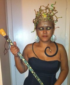 Homemade Medusa costume and make up by yours truely :)
