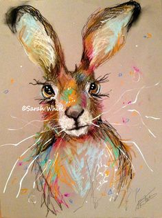 Watercolor Animals, Watercolor Paintings, Hare Pictures, Rabbit Art, Rabbit Drawing, Bunny Painting, Easter Art, Bunny Art, Alcohol Ink Painting