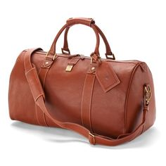Spinal of London Boston Bag in Tan Pebble Calf Leather