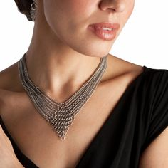 Rapt In Maille | Handmade Chainmaille Jewelry by Melissa Banks | Stainless Steel | Chicago — SLINKY Diamond  9-Chain Necklace