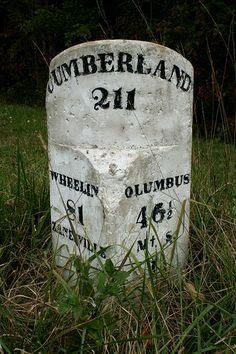 Milepost 211, National Road    Ohio, U.S. Route 40.