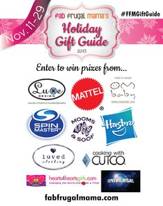 15 days of AMAZING GIVEAWAYS!!  Fab Frugal Mama's 2013 Holiday Gift Guide -  from November 11-29th!  #FFMGiftGuide
