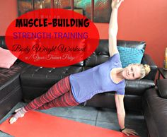 Muscle Sculpting Strength Training Workout {No Equipment Required}