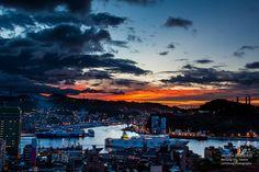 Taiwan_Keelung Harbor_基隆_中正公園_基隆港_夕色_夕陽_黃昏_Sunset_黑卡_IMG_4591 by 阿Len
